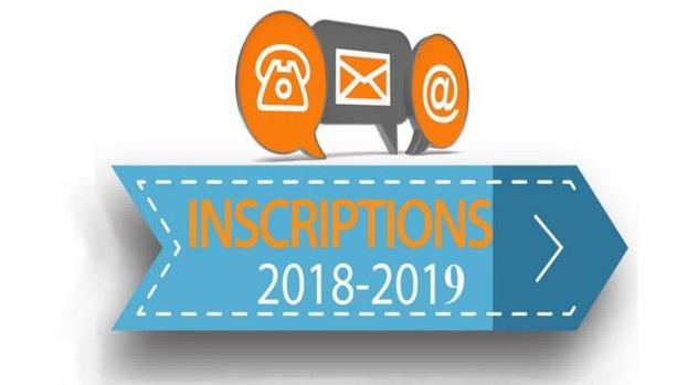 INSCRIPTIONS 2018 - 2019