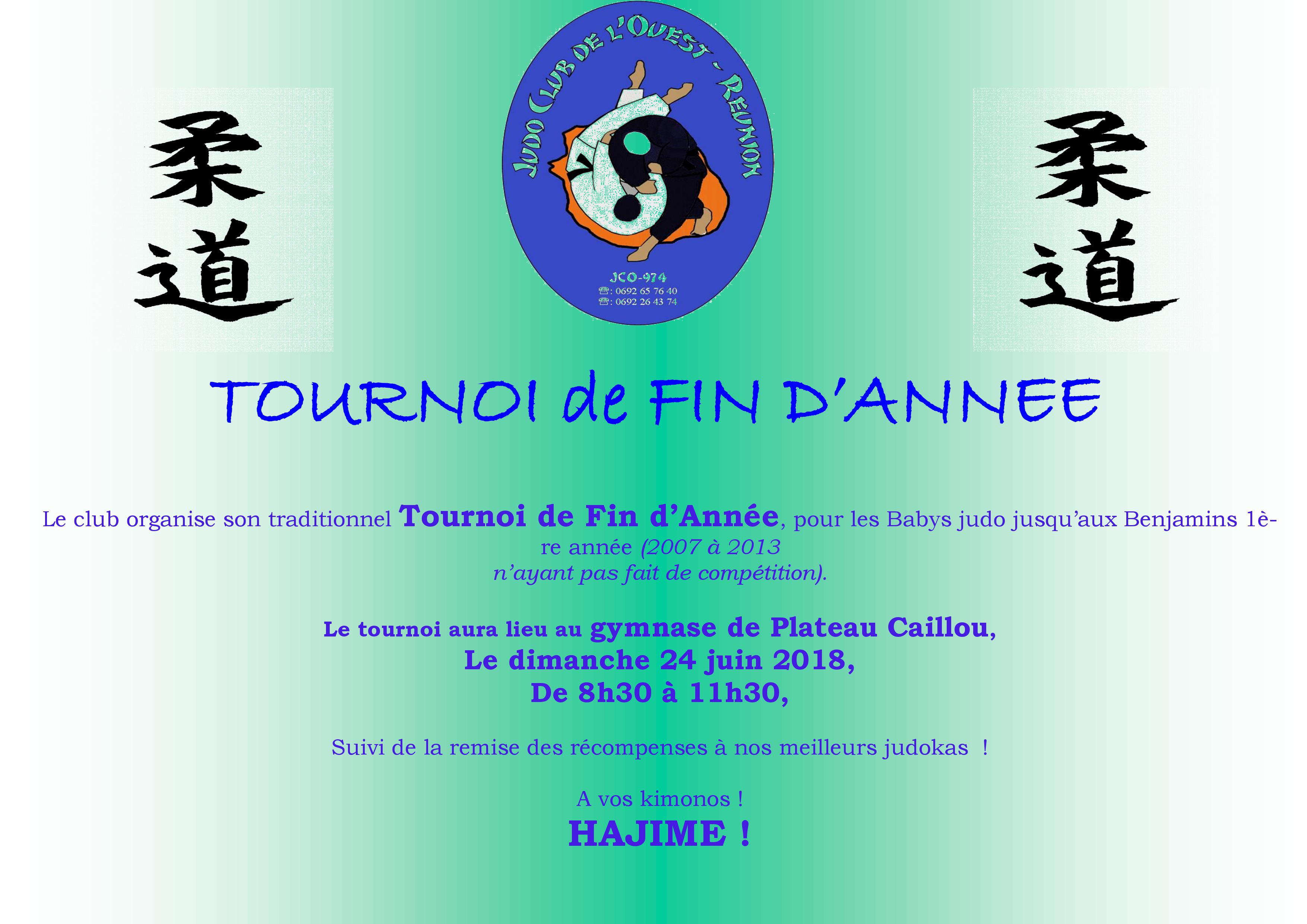 TOURNOI DE FIN D'ANNEE