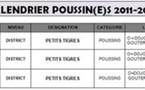 Calendrier saison 2011-2012
